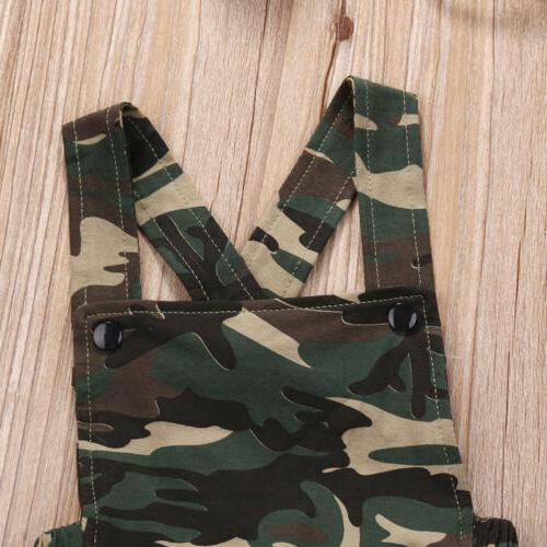 Camouflage Girl Jumpsuit Clothes Outfits Sunsuit