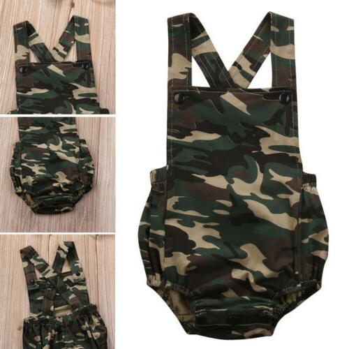 Camouflage Baby Girl Jumpsuit Clothes Outfits