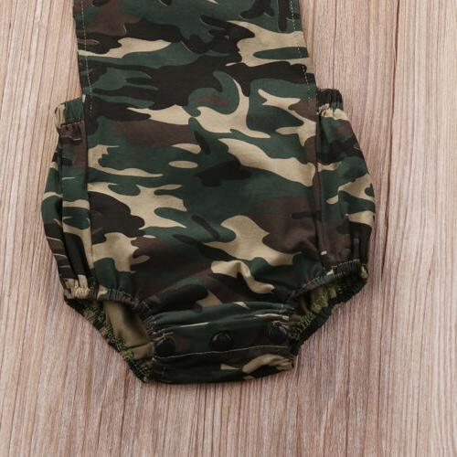 Camouflage Girl Romper Clothes Outfits Sunsuit