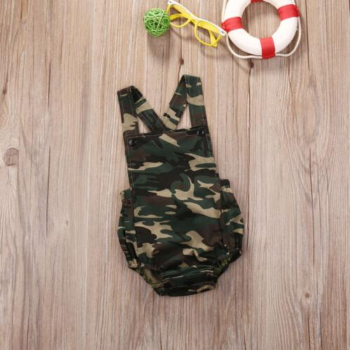 Camouflage Newborn Girl Clothes Outfits
