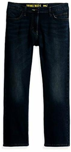 Lee Childrens Apparel Boys Sport Straight Fit Knit Jeans- Pi