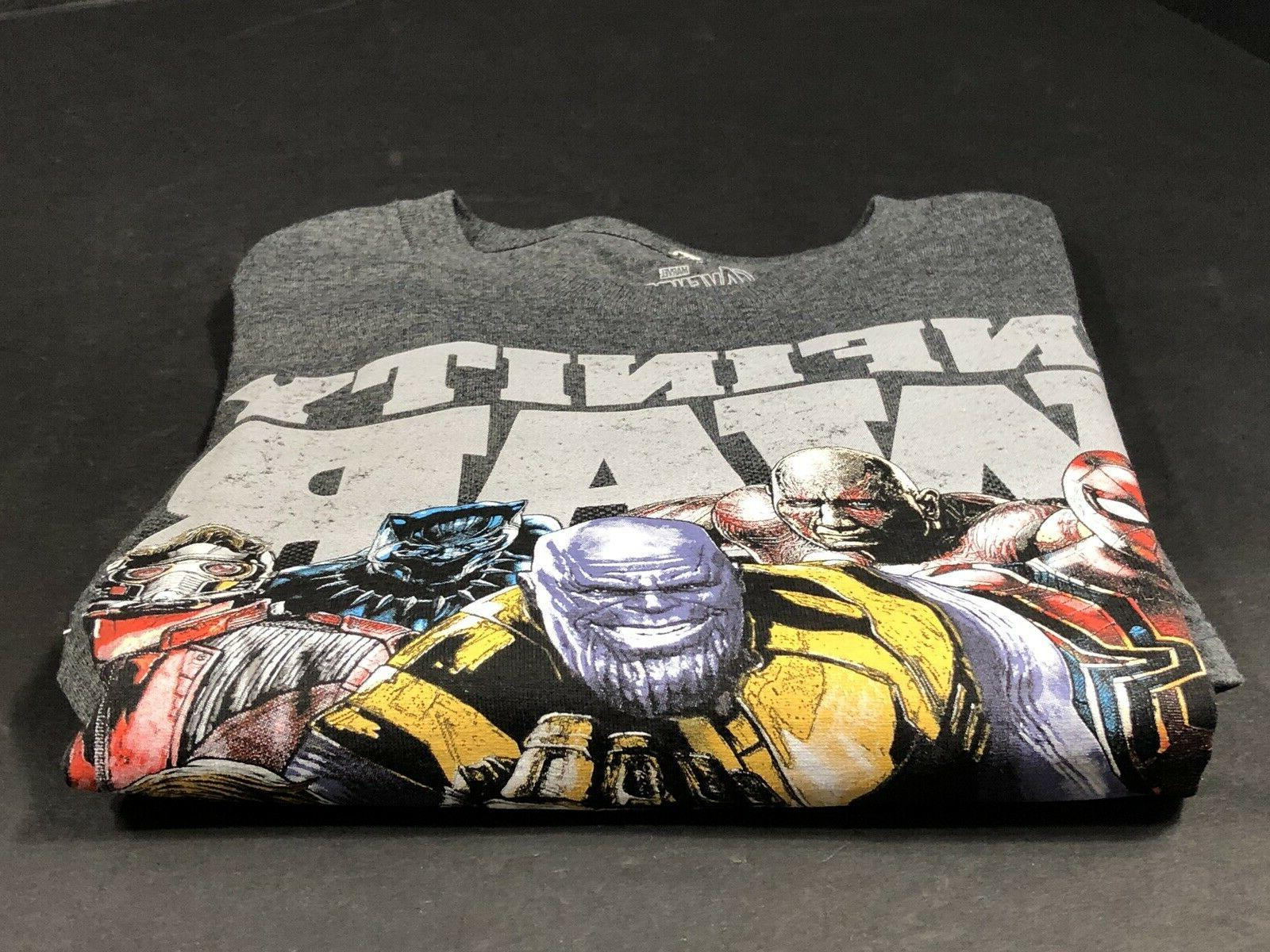 Childrens Clothes Boys Marvel Size XL Gray New
