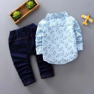 Cute 0-5T Toddler Baby Boys Pants Set