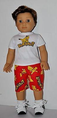 DOLL CLOTHES CUSTOM MADE FOR AMERICAN GIRL DOLL LOT- BOY POK