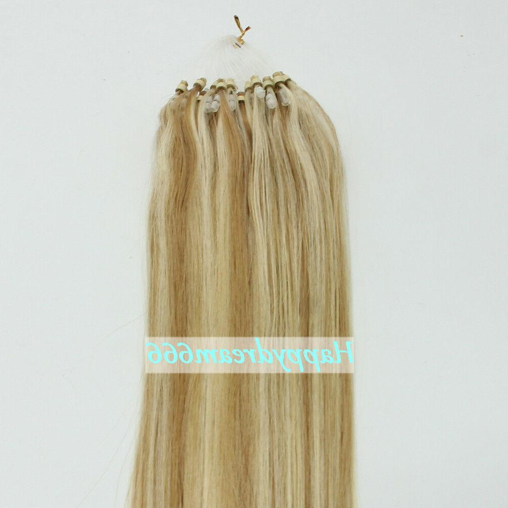 Double Remy Hair Ring Loop Hair Extensions
