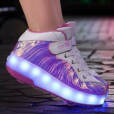 Ehauuo LED up Shoes with Retractable Skate