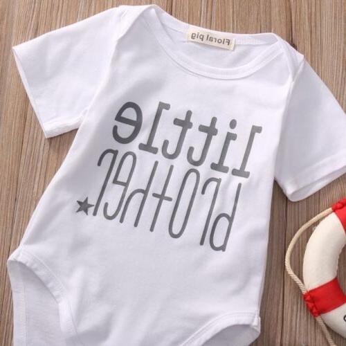 Family Little/Big Brother Romper T-shirt Baby Boy Clothes