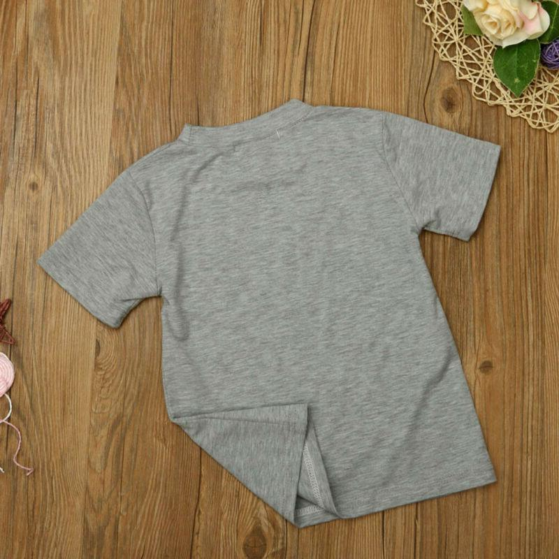 Fashion Children Baby young Letter Print Sleeve Clothes