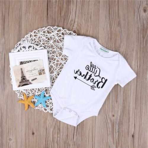 Fashion Kid Baby Big Brother Boy Romper Tops T-shirt Clothes