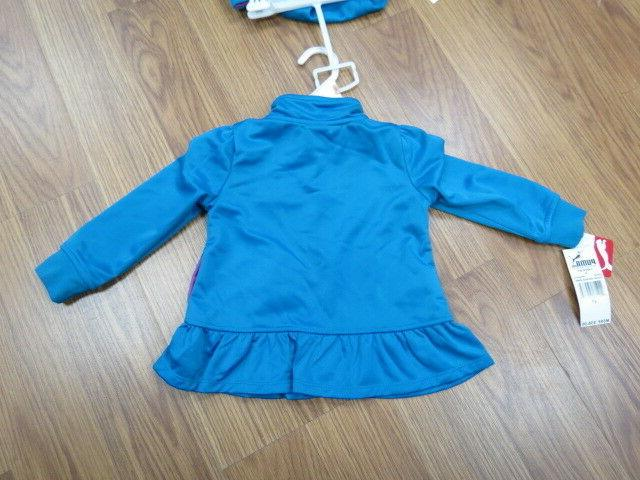 PUMA GIRLS 2 TRACKSUIT TOP SET BLUE SIZE