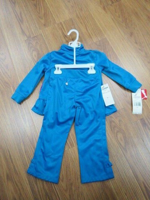PUMA GIRLS TRACKSUIT TOP AND SET BLUE SIZE