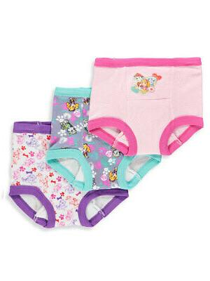 girls 3 pack training pants and chart