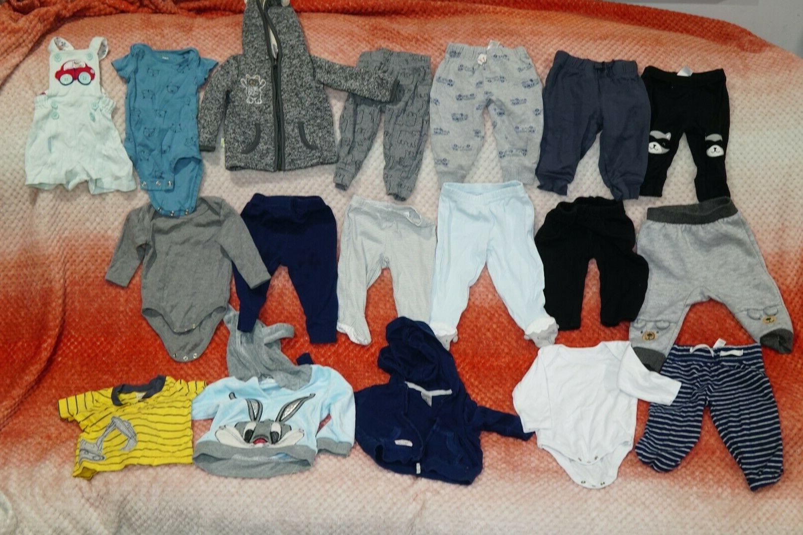 Huge Lot Over 80 Piece Baby Boys Clothing and Accessories Up
