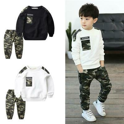 ienens 2pc kids baby boys military clothes