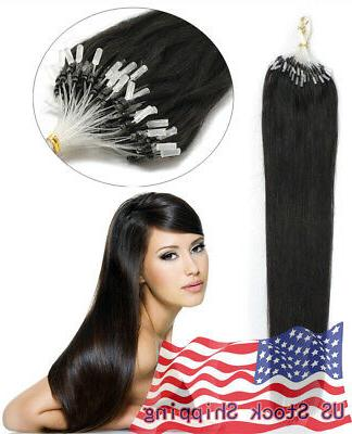 Indian Remy Hair Extensions Micro Ring Easy US