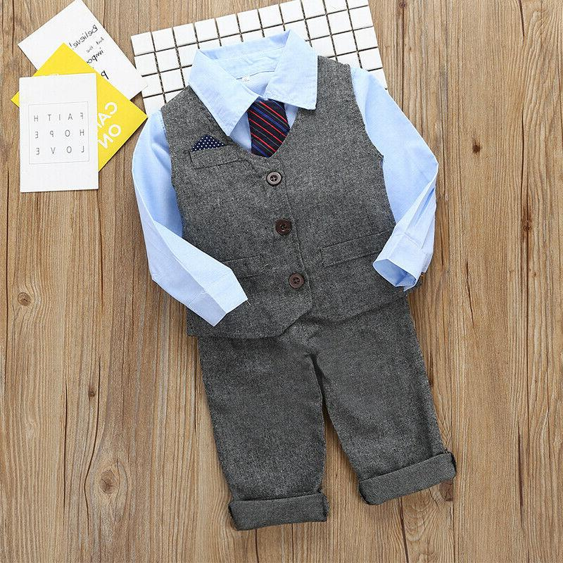 Kids Baby Gentleman Outfits Wedding Formal Party Prom
