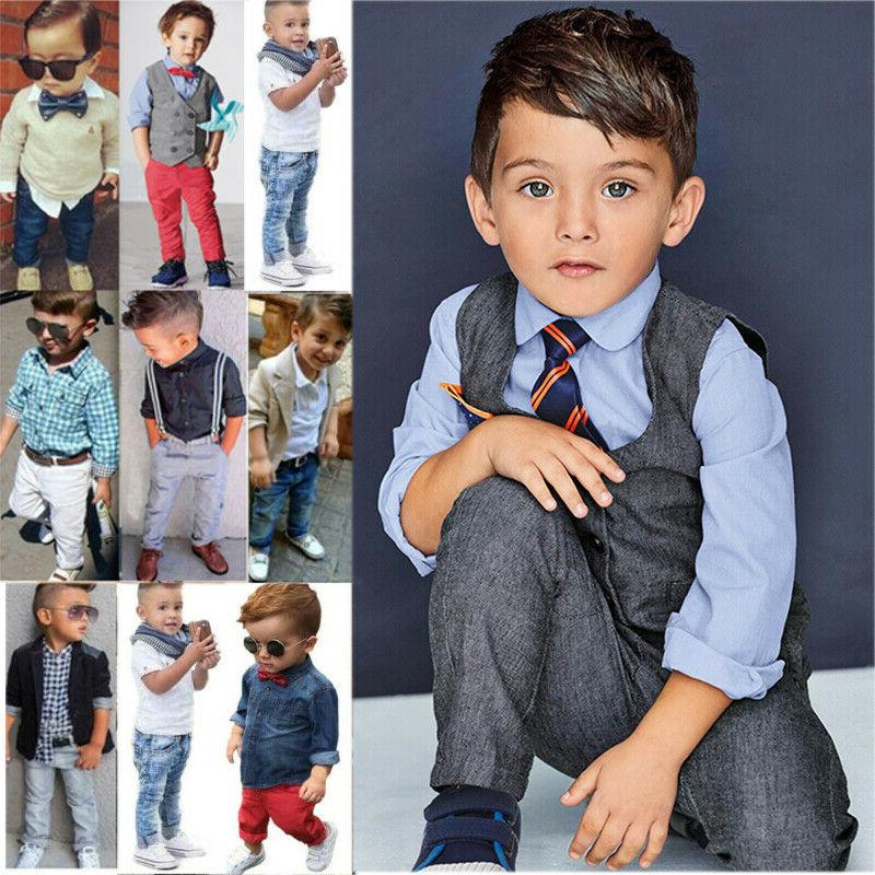 toddler kids baby boys formal outfit gentleman