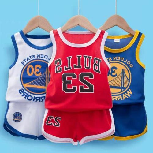 Kids Baby Boys Basketball Clothes Summer Child Boy Sports Ou