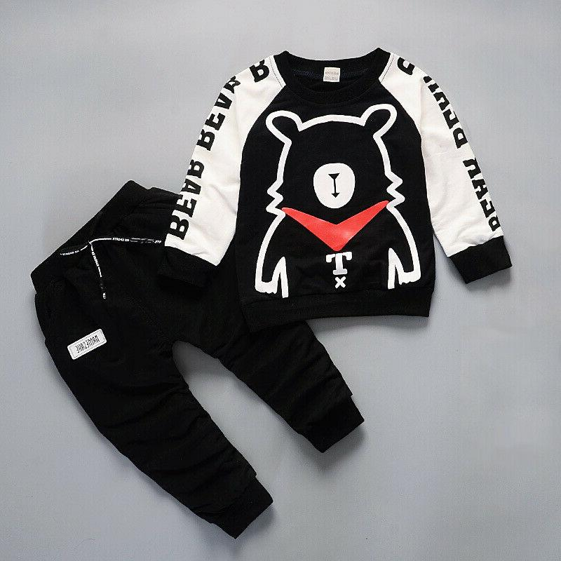 IENENS Boys Baby Sleeve Tracksuit