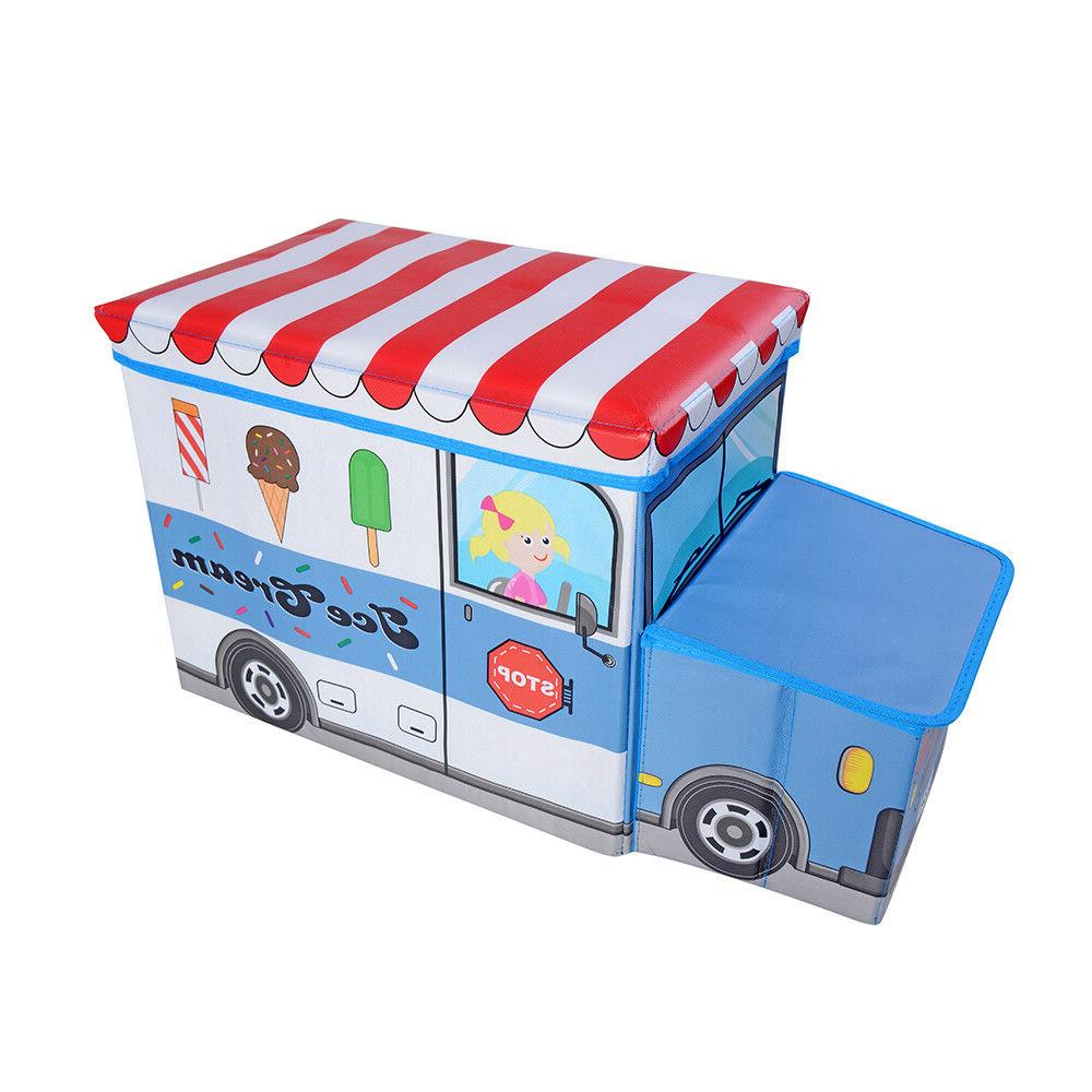 Kids Clothes Bedroom Stool Toy Books Car