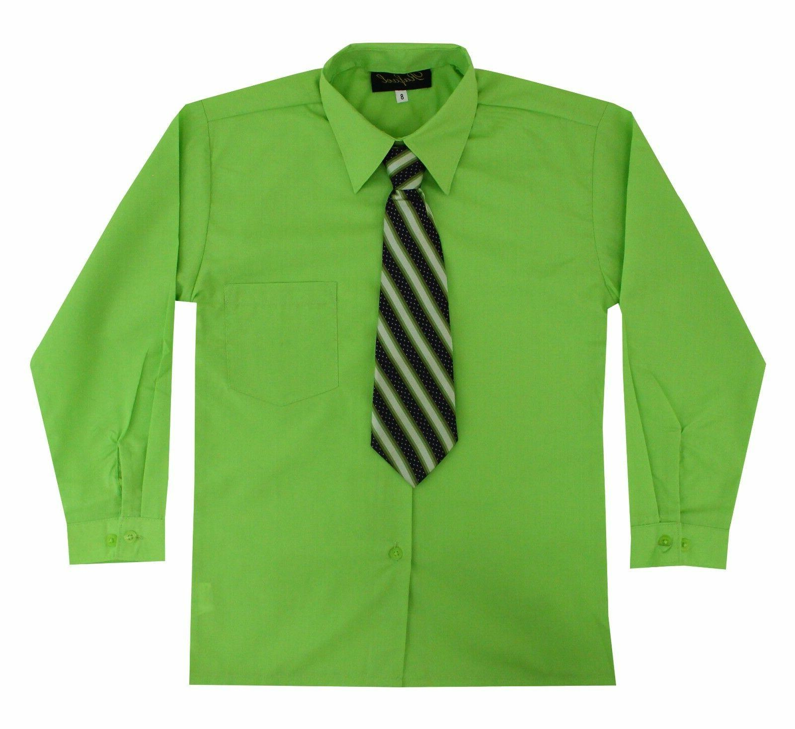 Kids Toddlers Sleeve Shirt Tie Set 2T to 14