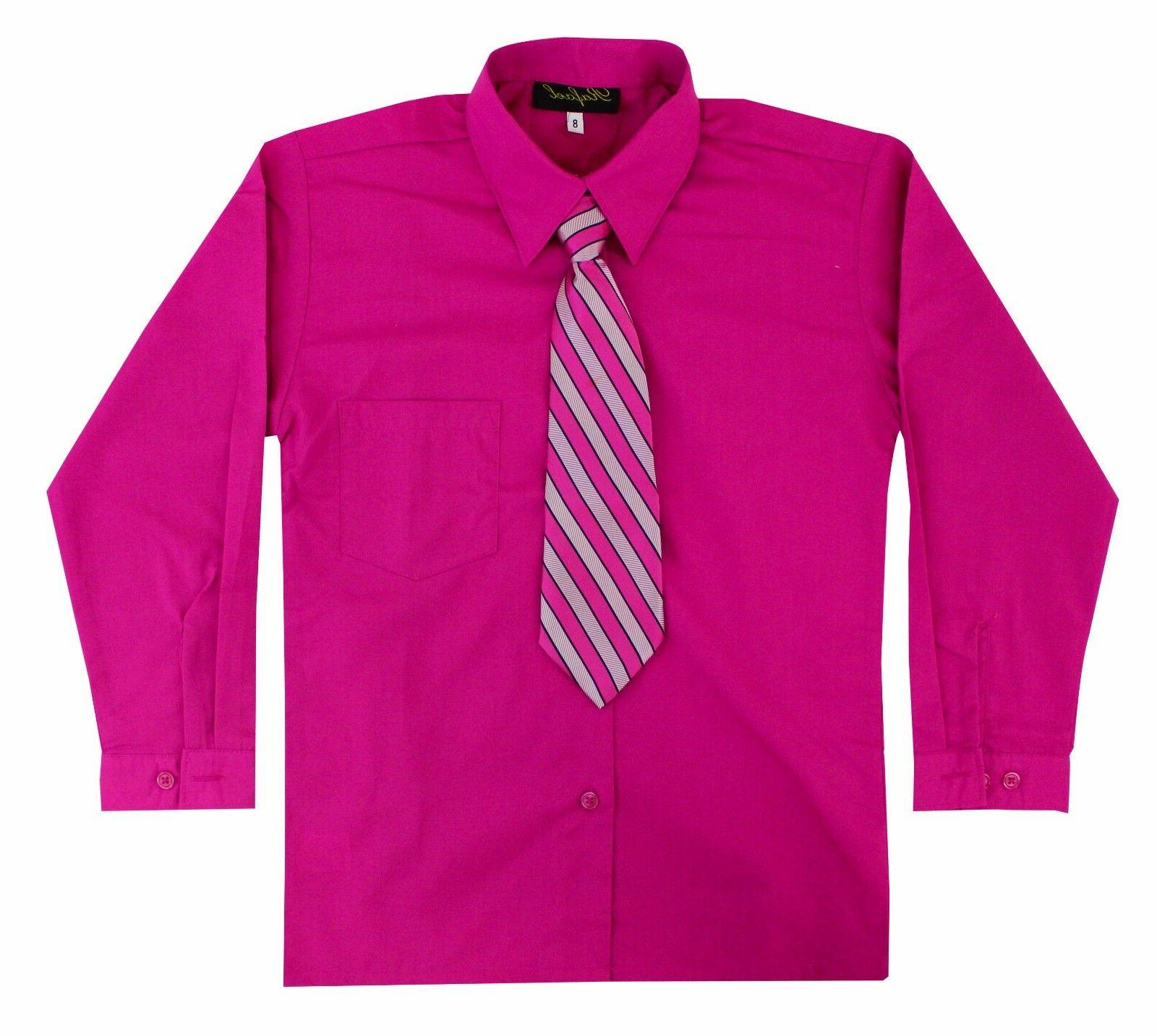Kids Toddlers Boys Sleeve Shirt Tie Size to