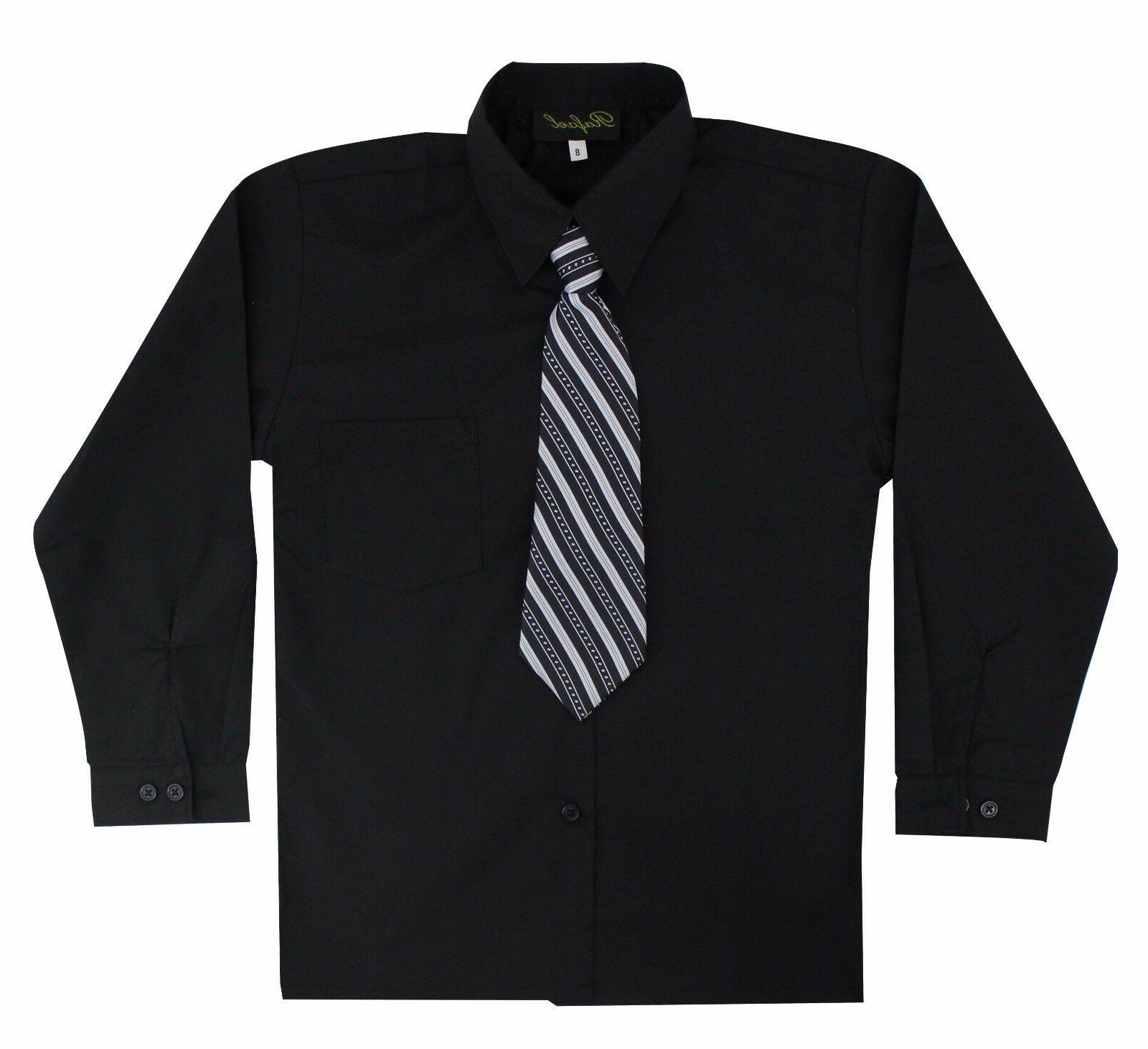 Kids Toddlers Sleeve Shirt Tie Set Size to