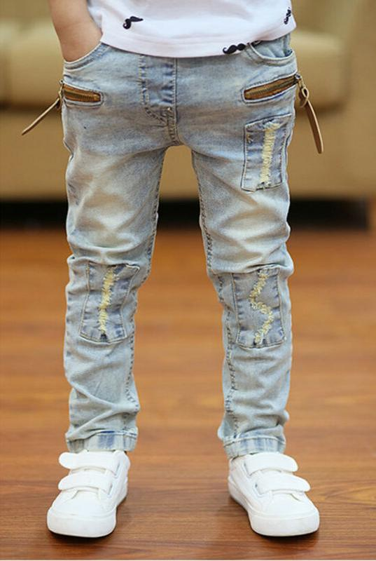 Kids Young Boys Pants Children Jeans Trousers