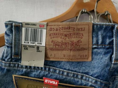 Levi's 8 Long Jeans Tapered Fit Made In USA