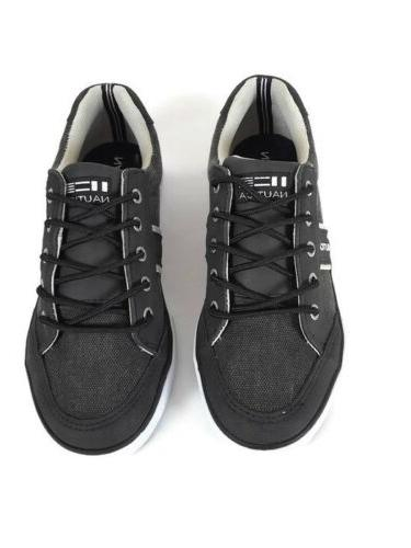 Nautica Little/Big Boy's Hull Sneakers Charcoal Gray Low Top