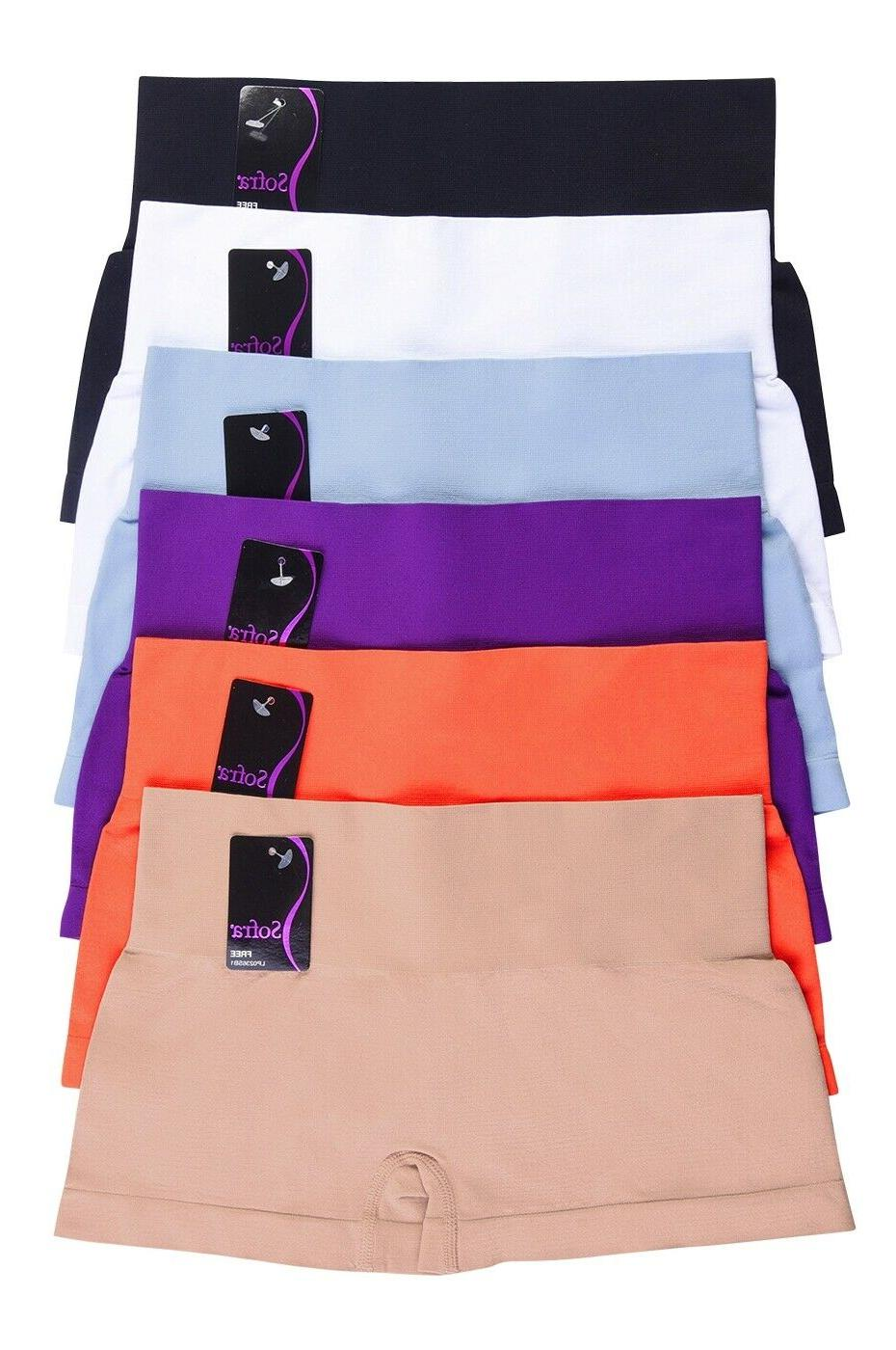 Lot of Seamless Boy Shorts Extended Hipster Underwear