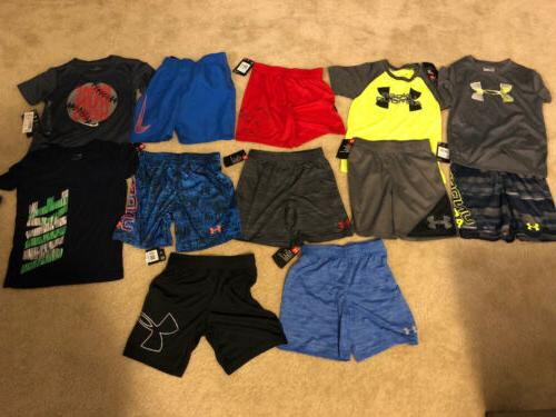 lot of new boys under armour clothes