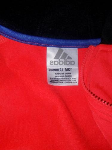Adidas Childrens Apparel Baby Zip and Pant Set