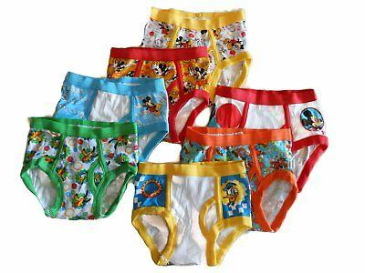 mickey mouse 7 pack toddler boys briefs