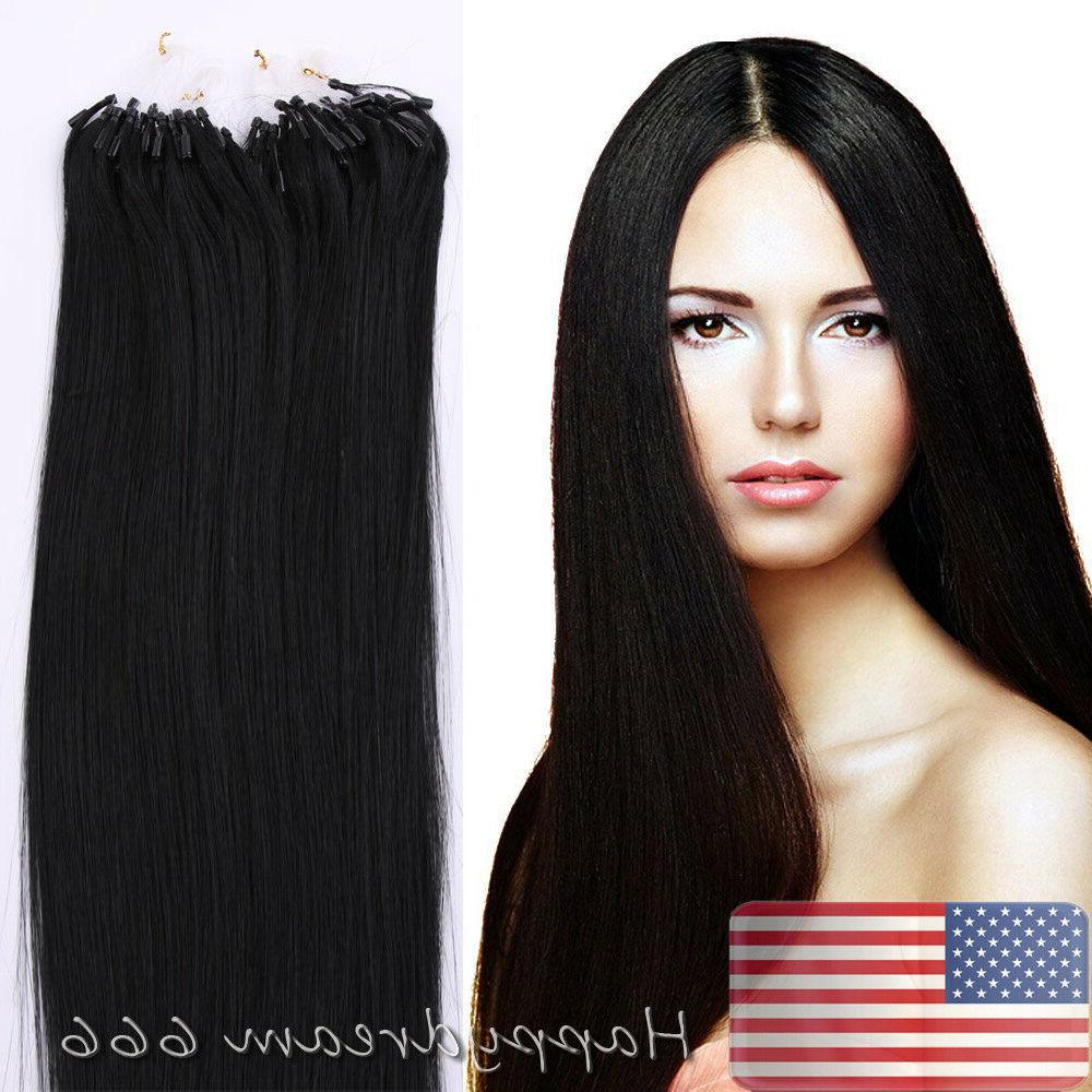Double Remy Human Ring Hair Extensions