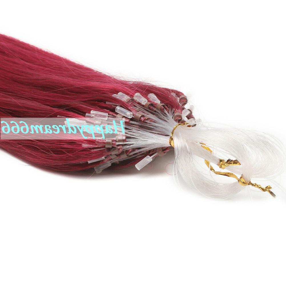 Micro Ring Tip Link Human Hair Extensions Straight