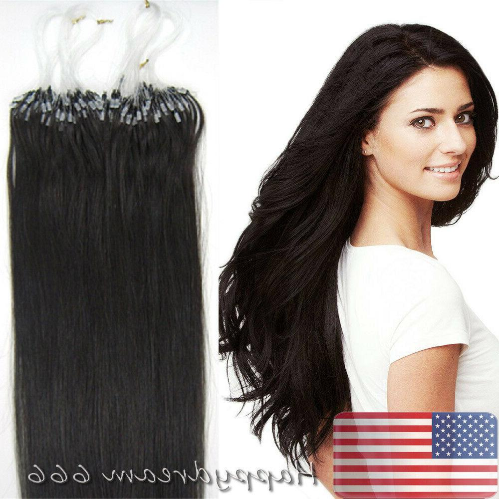 Double Full Remy Micro Ring Loop Tip Hair Extensions