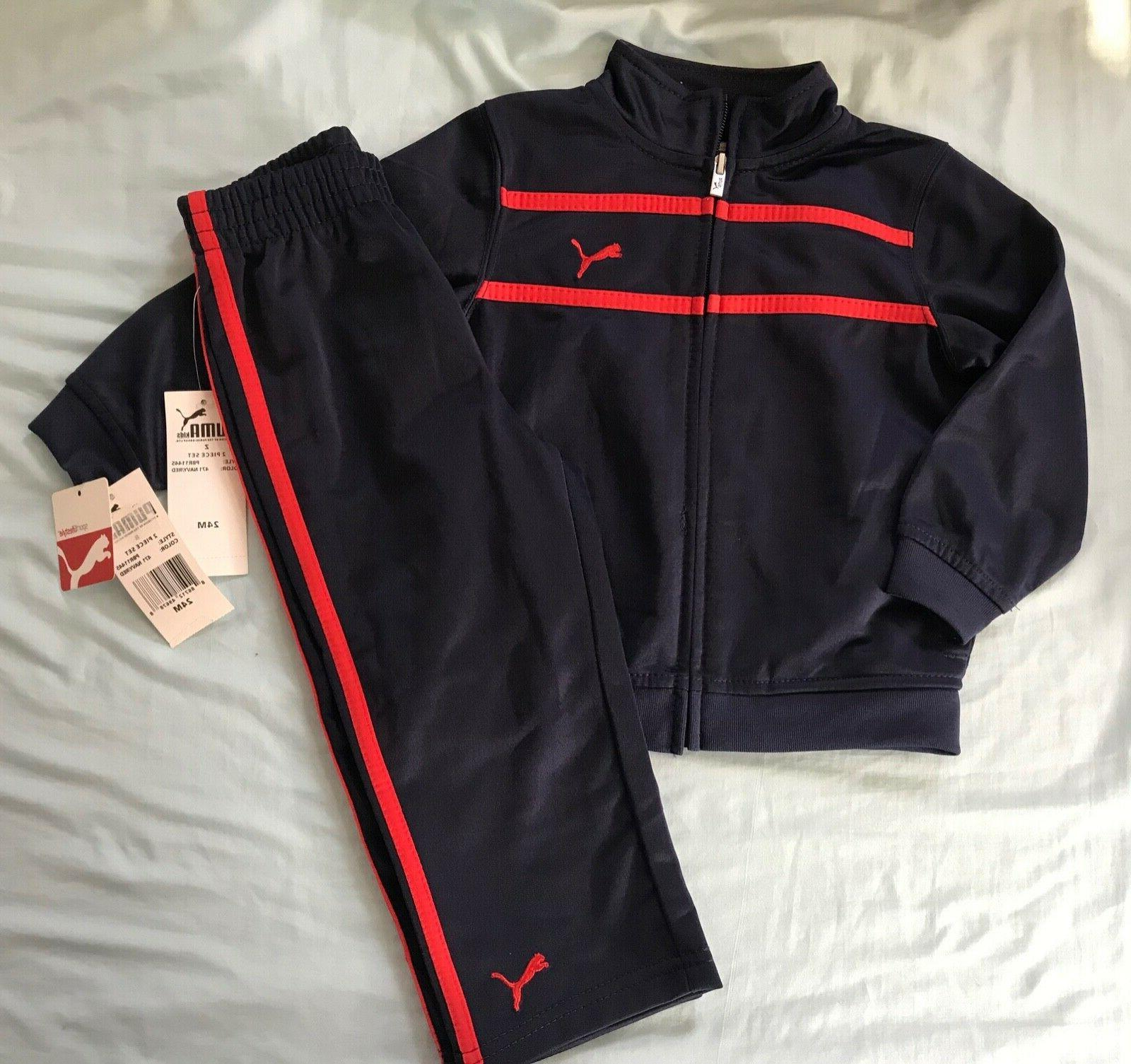 NEW Baby Boy Athletic Track 2 Piece Set Pants