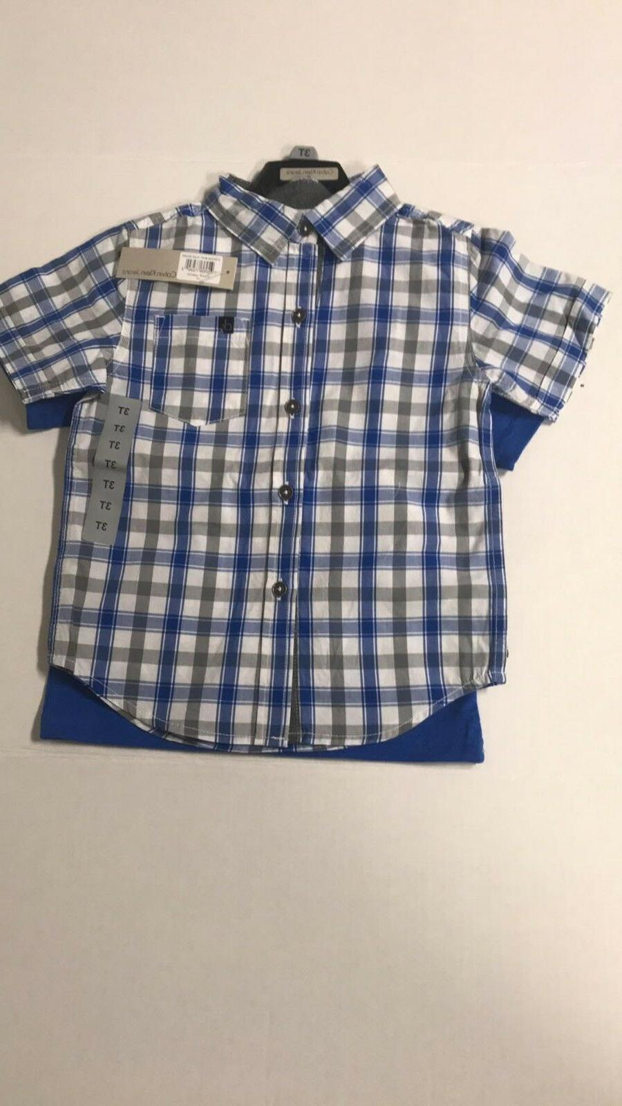 New Boys Plaid Outfit 3 set 2 Shorts