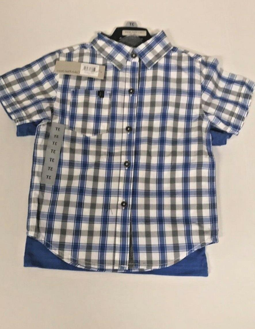 New Calvin Klein Plaid Outfit 3 piece set Shirts Shorts ~Size