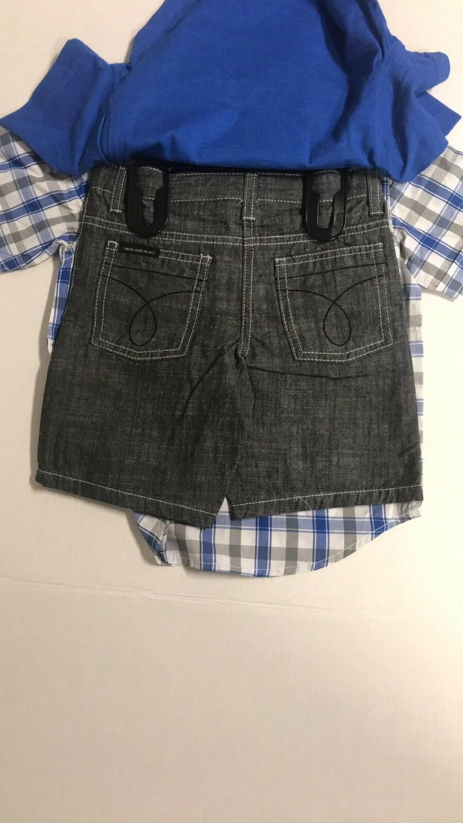 New Calvin Plaid Outfit 3 piece set & Shorts