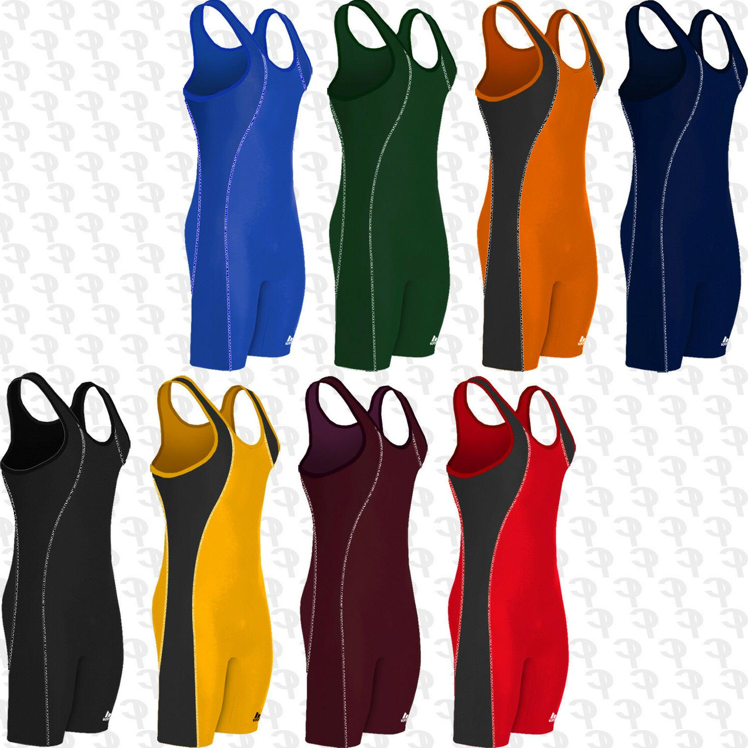 new contrast stitch wrestling singlet adult mens
