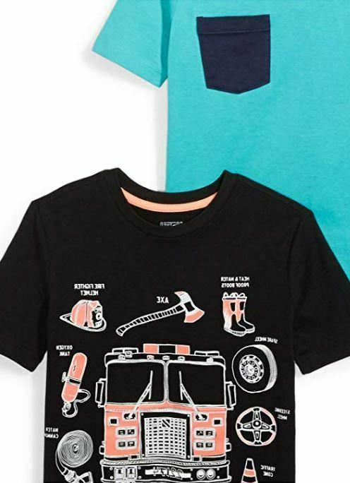 NEW Spotted Boy's Toddler & Kids 5-Pack Short-Sleeve T-Shirts