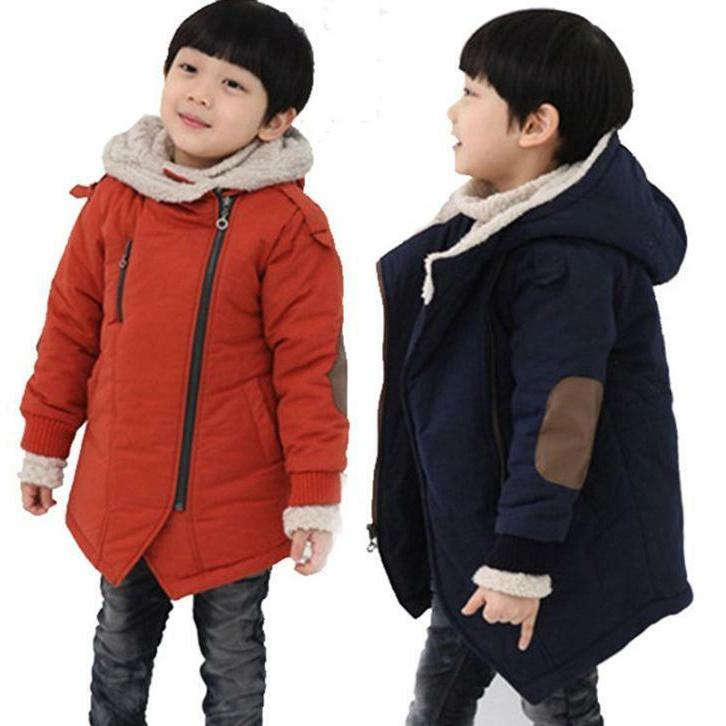 New Toddler Baby Kids Boy Winter Outerwear Warm Hooded Coat