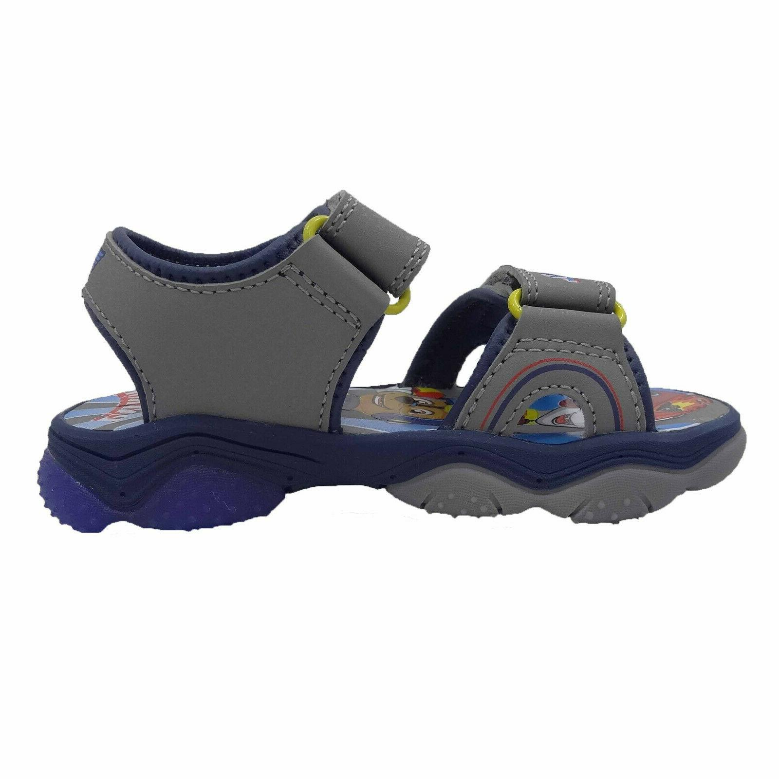 NEW Toddler Boys Paw Gray Sport Sandals Size 8