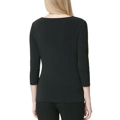 CALVIN NEW 3/4 Sleeve Side Lace-up Blouse Shirt