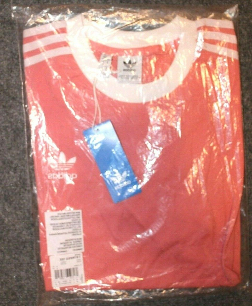 NEW ADIDAS 3 TREFOIL TEE SHIRT ~ SMALL ROSE