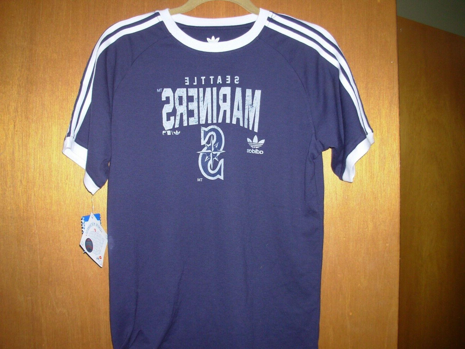 new youth L/large adidas originals MLB team apparel seattle t-shirt/tee