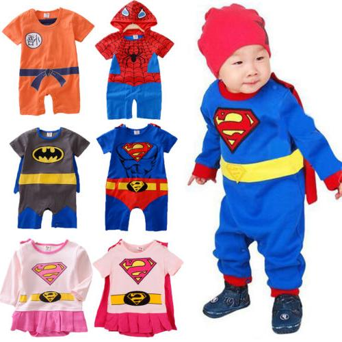Newborn Baby Boys Marvel Hero Cute Jumpsuit Bodysuit Clothes Outfit