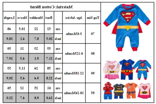 Newborn Girls Marvel Cute Jumpsuit Bodysuit Clothes